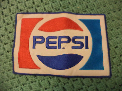 "Vintage Pepsi Patch Cloth Embroidered 9"" x 6"" Cola Soda"