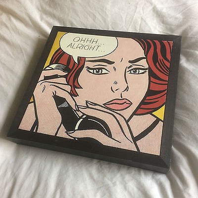 Ohhh...Alright... (Roy Lichtenstein, 1964) Pop Art Framed Wall Print of Painting