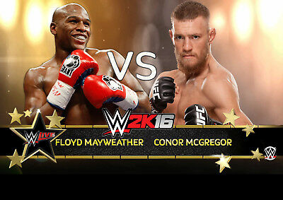 FLOYD MAYWEATHER v CONOR McGREGOR BOXING 32 POSTER PHOTO PRINT