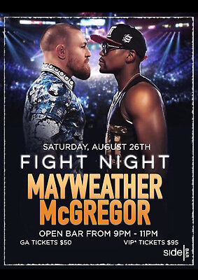 FLOYD MAYWEATHER v CONOR McGREGOR BOXING 30 POSTER PHOTO PRINT
