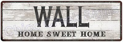 WALL Home Sweet Home Country Look Gloss Metal Sign 6x18 Chic Décor M61801300