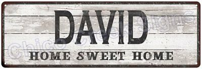 DAVID Home Sweet Home Country Look Gloss Metal Sign 6x18 Chic Décor G61801535