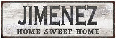 JIMENEZ Home Sweet Home Country Look Gloss Metal Sign 6x18 Chic Décor M61801858