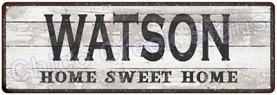 WATSON Home Sweet Home Country Look Gloss Metal Sign 6x18 Chic Décor M61801594