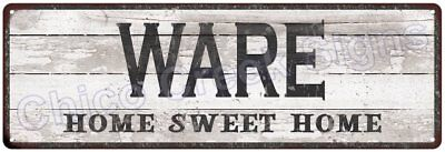 WARE Home Sweet Home Country Look Gloss Metal Sign 6x18 Chic Décor M61801314