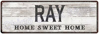 RAY Home Sweet Home Country Look Gloss Metal Sign 6x18 Chic Décor G61801213