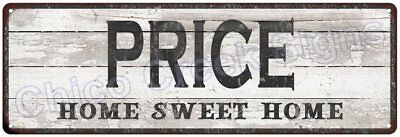 PRICE Home Sweet Home Country Look Gloss Metal Sign 6x18 Chic Décor M61801379