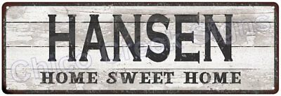 HANSEN Home Sweet Home Country Look Gloss Metal Sign 6x18 Chic Décor M61801625