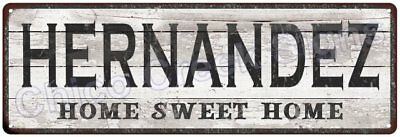 HERNANDEZ Home Sweet Home Country Look Gloss Metal Sign 6x18 Décor G61802136