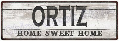 ORTIZ Home Sweet Home Country Look Gloss Metal Sign 6x18 Chic Décor G61801381