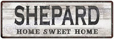 SHEPARD Home Sweet Home Country Look Gloss Metal Sign 6x18 Chic Décor G61801999