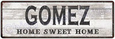 GOMEZ Home Sweet Home Country Look Gloss Metal Sign 6x18 Chic Décor M61801375