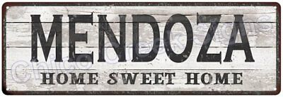 MENDOZA Home Sweet Home Country Look Gloss Metal Sign 6x18 Chic Décor M61801854