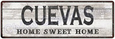 CUEVAS Home Sweet Home Country Look Gloss Metal Sign 6x18 Chic Décor M61801831