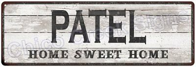 PATEL Home Sweet Home Country Look Gloss Metal Sign 6x18 Chic Décor M61801399