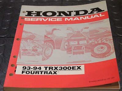 NOS OEM Honda Service Shop Manual NEW 93-94 TRX300EX FOURTRAX TRX 300 EX