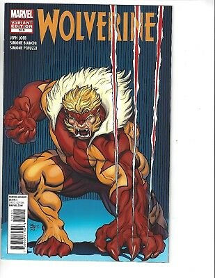 NM Rare WOLVERINE #310 (2012) ED McGUINNESS SABRETOOTH VARIANT MARVEL COMIC
