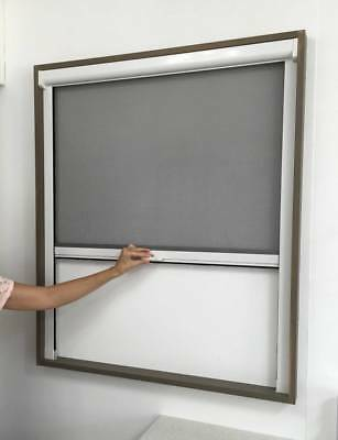 Retractable Window Flyscreen for 1500mmW x 1500mmH White or Brown Fly Screen