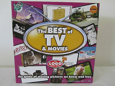 The BEST of TV & MOVIES LOGO Board Game Exc Con COMPLETE