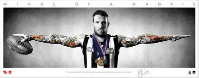 Dane Swan Collingwood Magpies Signed Signature Series Mini Wings Afl Print