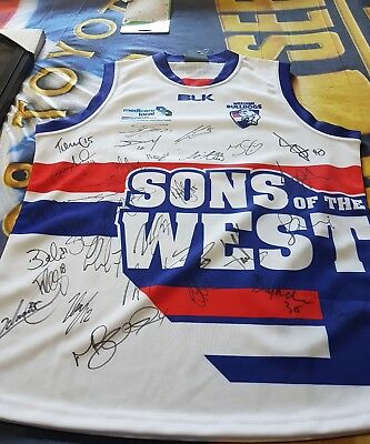 western bulldogs sons of the west  jumper signed