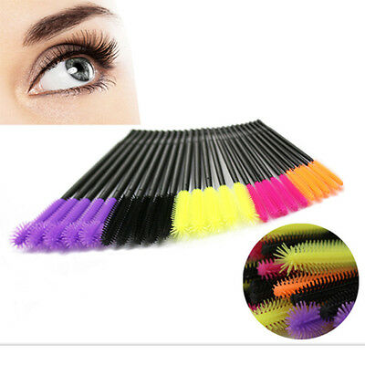 50* Silicone Disposable Eyelash Makeup Brush Mascara Wands Extension Applicator
