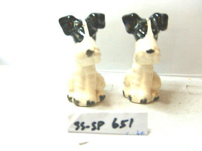 black and white dogs salt and pepper shakers