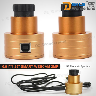 "0.91""/1.25"" Smart Webcam 2MP Telescope Electronic Eyepiece USB 2.0 Interface New"