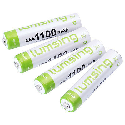 4x AAA Battery Nickel Hydride Rechargeable NI-MH 1100mAh 1.2V Batteries CA