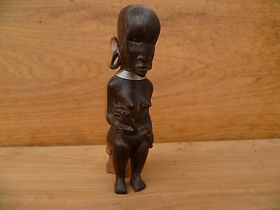 Vintage Old African? Tribal Timber Carving Statue (A219)