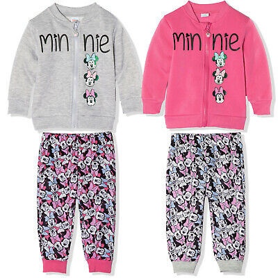 Disney Minnie Mouse Baby Girls Hoodie Hooded Top Jumper 9-36 Months New 2017/18