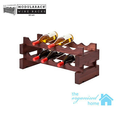 Modularack Timber 12 Bottle Wine Rack 2 Layers of 6