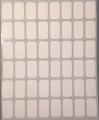 240 Small White Sticky Labels 9  X 16mm Price Stickers,Tags,Blank,Self Adhesive