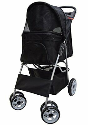 VIVO Four Wheel Pet Stroller, for Cat, Dog and More, Foldable Carrier
