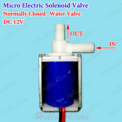 DC 12V Micro Electric Solenoid Valve Normally Closed Gas Air Water Control Valve