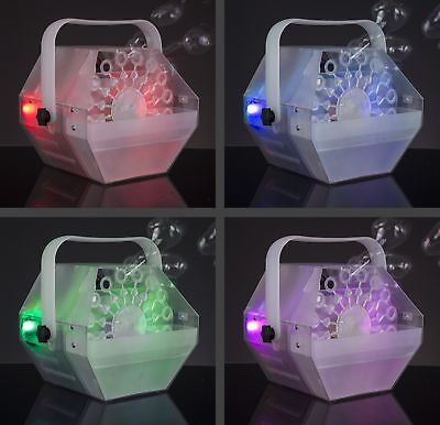 Lightshow Bubble Machine with Built In LED Lights & 1 Liter of Bubble Liquid
