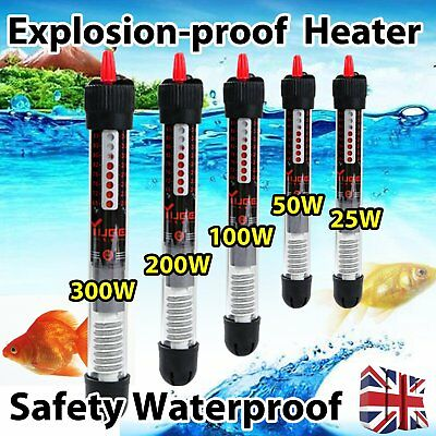 Aquarium Fish Water Tank Heater 25/50/100/ 200/500W For Thermostat Submersible