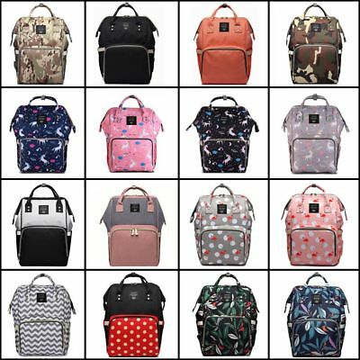 Multi functional Baby Diaper Nappy Mummy Backpack Waterproof Large Changing Bag