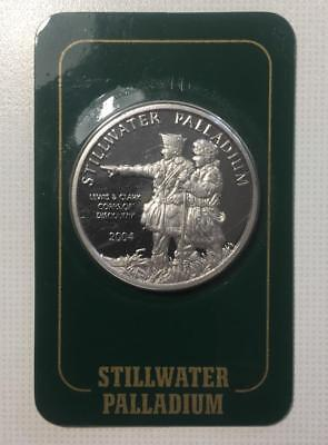 2004 1oz. Stillwater Palladium - Johnson Matthey Certified 999.5 - Sealed