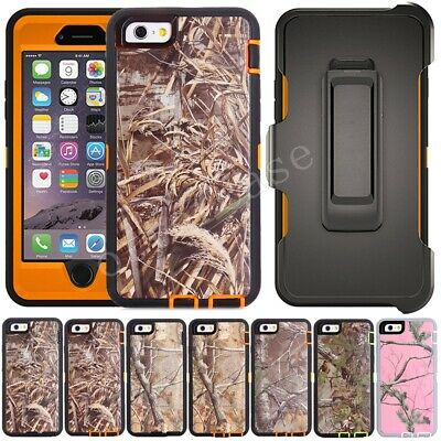Shockproof Case Cover For iPhone 6 6S 7 8 Plus, Belt Clip Fits Otterbox Defender