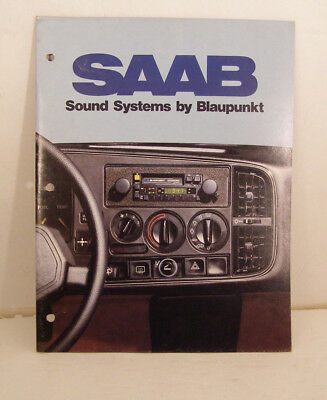 Saab 900 Sound Systems Booklet from 1980's