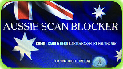 "2 X Rfid Blocking Cards_""aussie Scan Blocker""cards Like_Skim Guard_Protect Card"