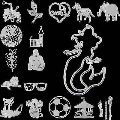 New 17 Type Metal Cutting Dies Stencil Scrapbook Paper Card Craft Embossing DIY