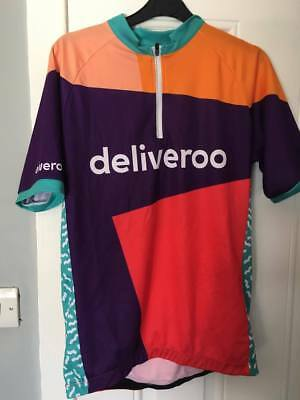 Deliveroo RED PURPLE Cycling Jersey NEW Large
