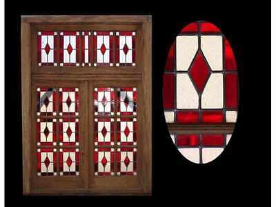 Wooden Double Leaded Glass Window #4520