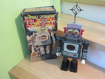 Rare, vintage Spacetoys Roboter / Robots Television Spaceman ALPS, Made in Japan