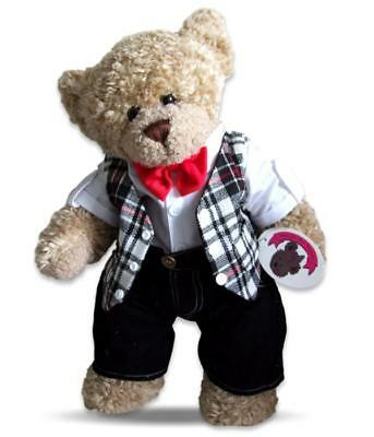 Teddy Bear Clothes fit Build a Bear Teddies Red Bow Tie Outfit Bears Clothing