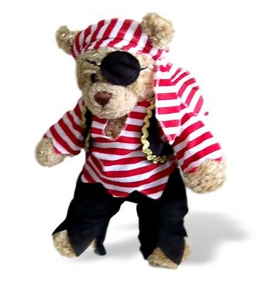 Teddy Bear Clothes fit Build a Bear Pirate Traditional Outfit Eye Patch Clothing