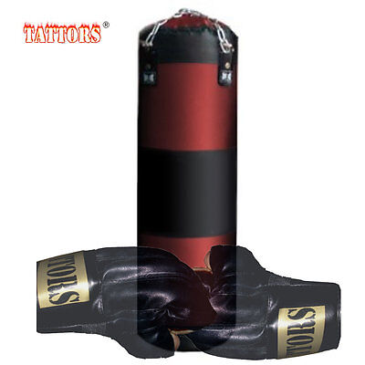 Boxes Karate Sandbag Punching Bag 120cm with Gloves Steel Chain Holder New Top