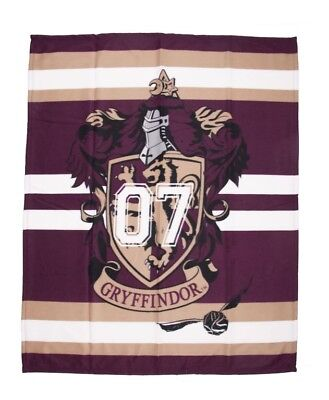 Harry Potter 'Gryffindor' Panel Fleece Blanket Throw Brand New Gift